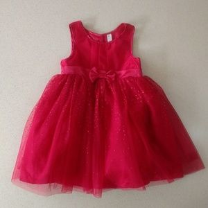 Holiday Red Sparkle Dress